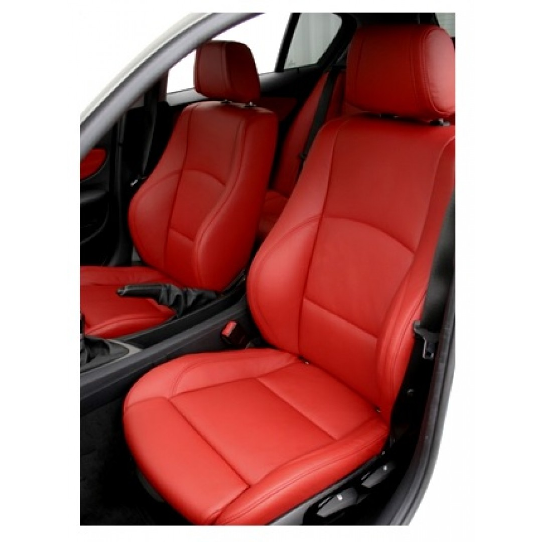 BMW E90 3 SERIES RED WITH RED  STITCHING 2010/15