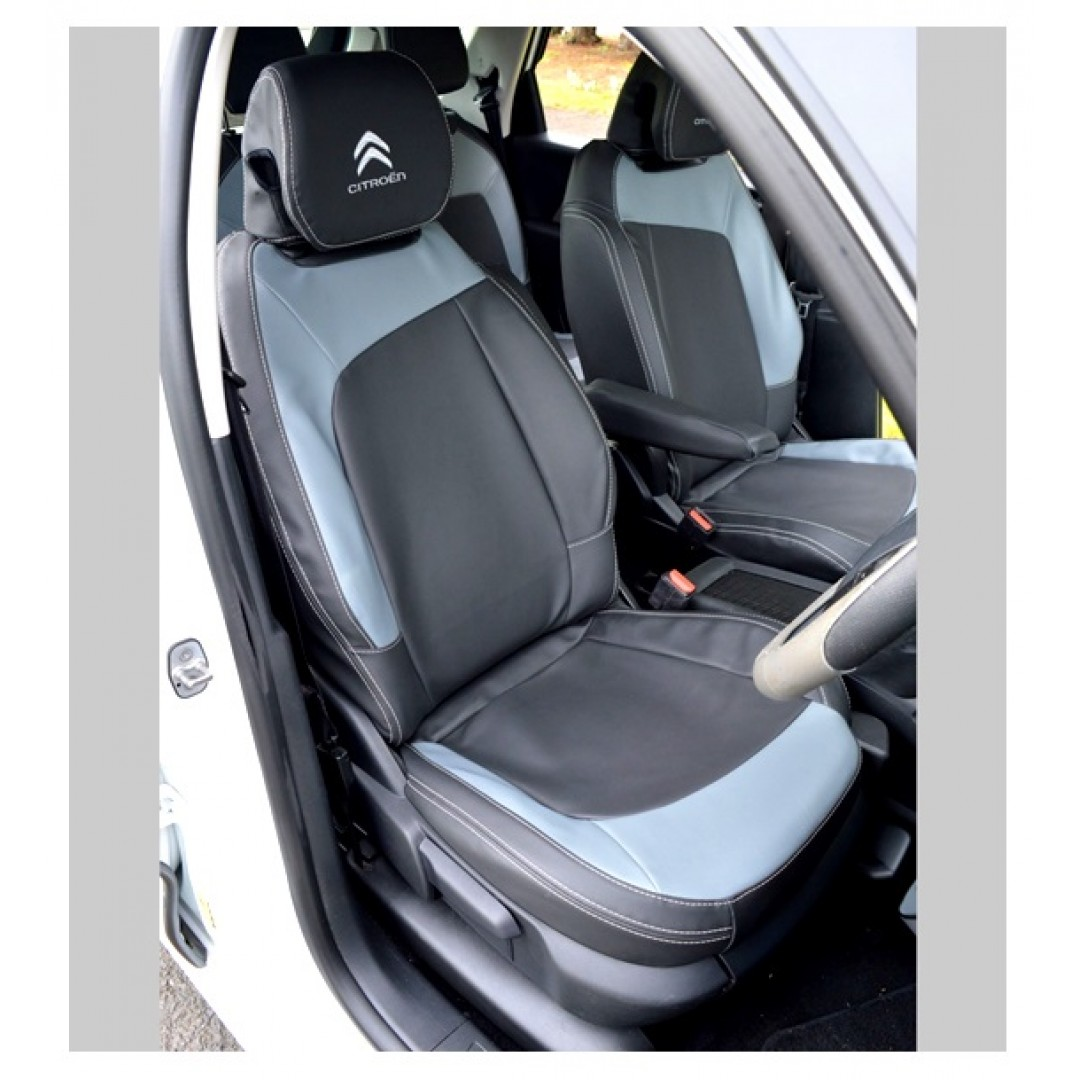 CITROEN C4 BLACK PLAIN SEAT COVER - SHOP NOW