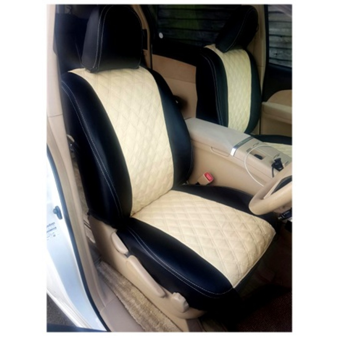 ESTIMA HYBRID 7 STR + 2008/2016 BLACK WITH BEIGE CENTRE/STITCH