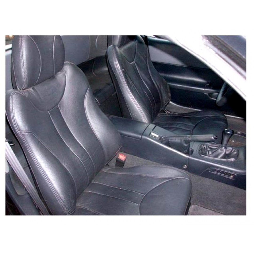 SHOP HONDA CR-X 2 BLACK SEAT COVER | PURE LEATHER FOR YOUR CAR