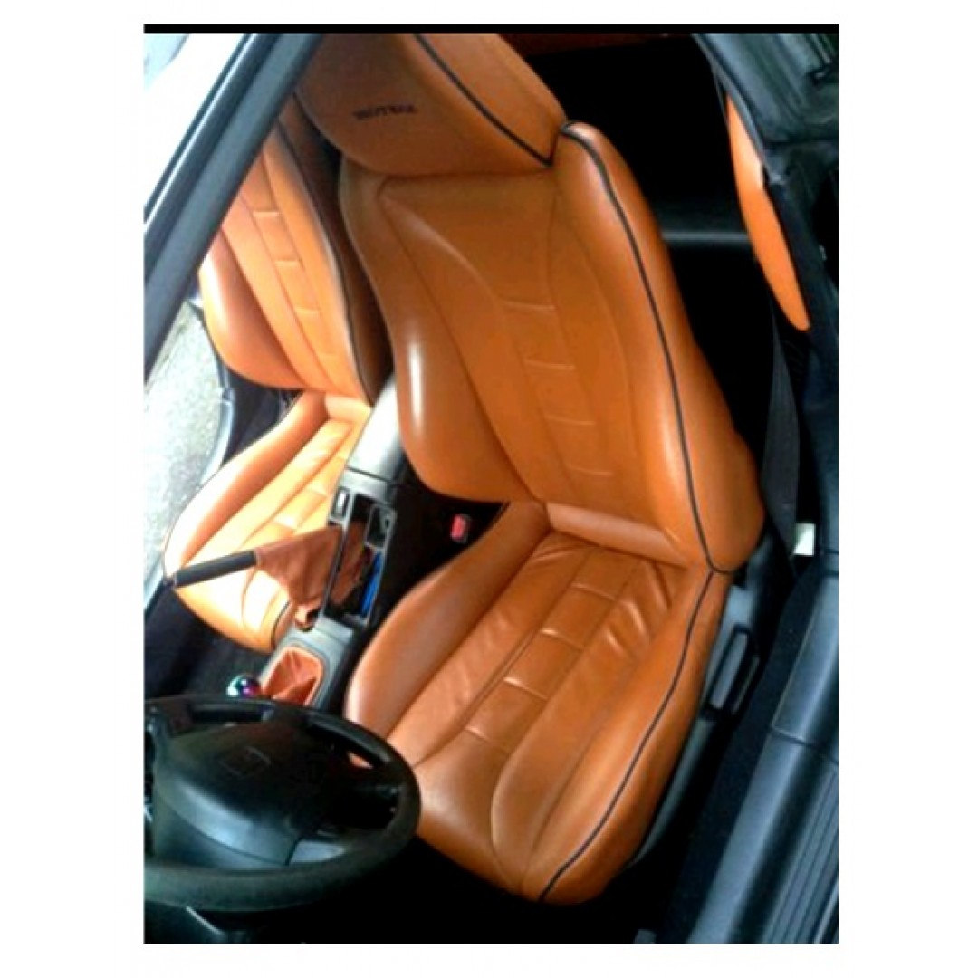 SHOP HONDA DEL SOL CR-X 2 TAN FRONT SINGAL SEAT COVERS