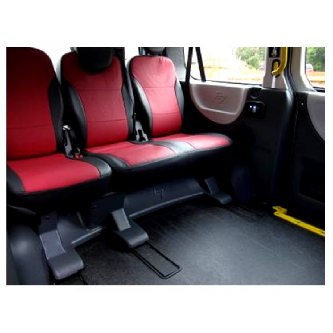 PEUGEOT E7 EXPERT TAXI SEAT COVER | 8 SEATER BLACK & RED CENTER