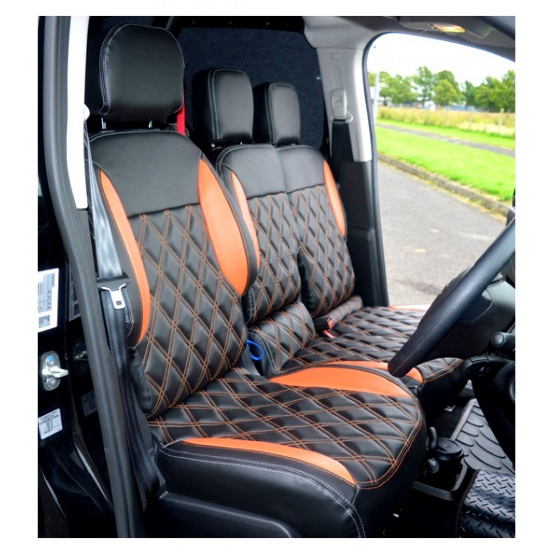3 SEATER PEUGEOT VAN BLACK DAIMOND STITCH SEAT COVER | SHOP NOW