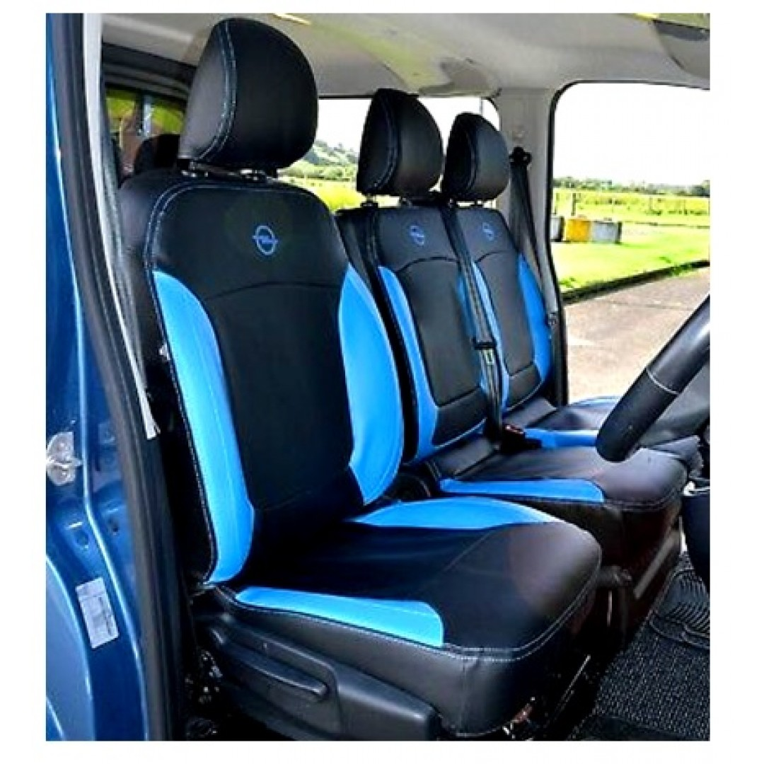 RENAULT TRAFFIC BLUE PANEL TWIN SEATS COVER - SHOP NOW