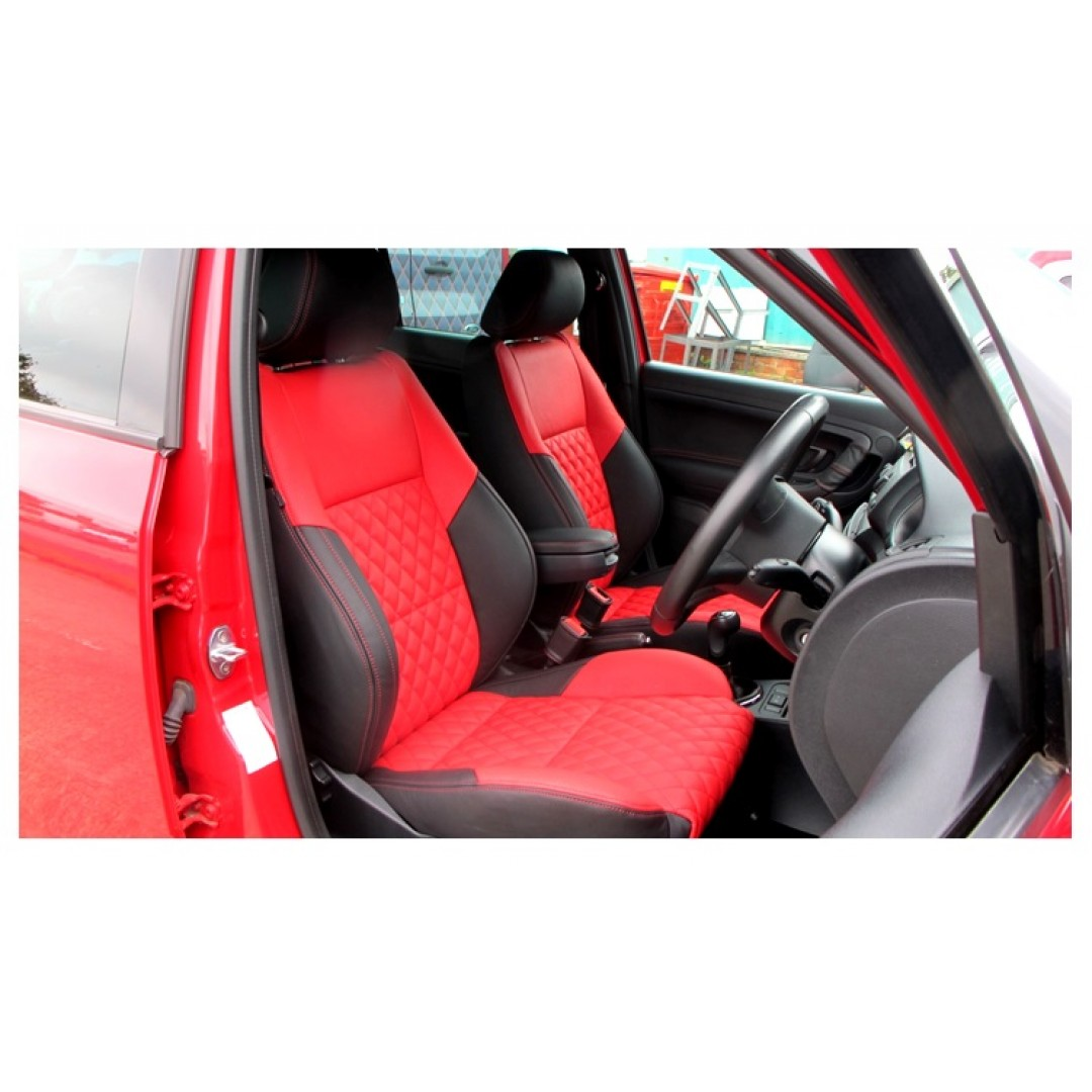 SKODA FABIA RED DAIMOND SEAT COVER - SHOP NOW
