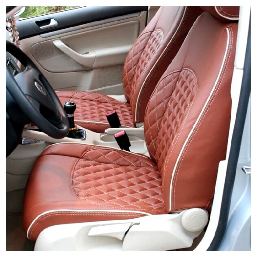 SKODA OCTAVIA RUST WITH DAIMOND CENTER SEAT COVER - SHOP NOW